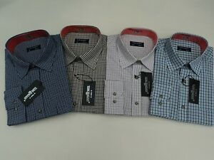 Mens-Checked-Casual-Shirt-Tom-Hagan-Long-Sleeves-Yarn-Dyed-From-Size-15-5-18