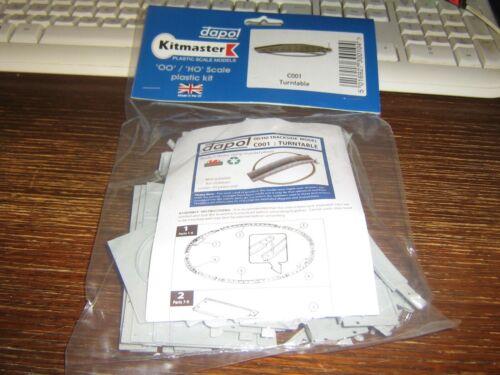 TURNTABLE manual - 00 // HO DAPOL KITMASTER TRACKSIDE PLASTIC SCALE MODEL KIT