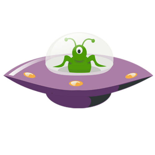 UFO Space Ship 3D Nursery Childrens Wall Stickers Bedroom Wall Art 4 Sizes