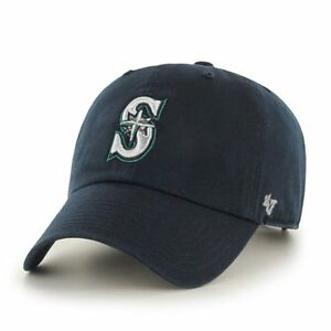 new styles 5c2e9 bab5b Image is loading Seattle-Mariners-039-47-Brand-Navy-Blue-Clean-