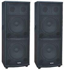 """COPPIA CASSE AMPLIFICATE ATTIVE 1600W AUDIO DJ MP3 USB/SD BLUETOOTH DOPPIO 10"""""""