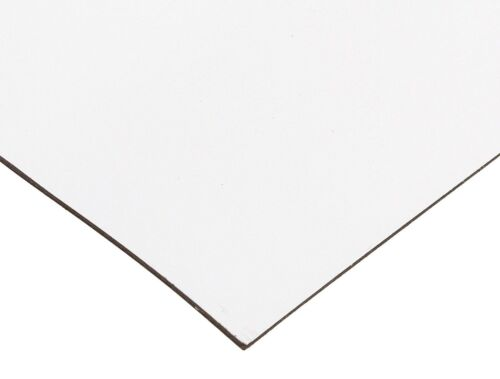 """24/"""" Le Flexible Magnetic Sheet 12/"""" Wide Sign Blank White Vinyl 0.030/"""" Thick"""