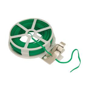 Garden-Wire-Green-Twist-Tie-Reel-PVC-Coated-Plant-Support-Flexible-30m