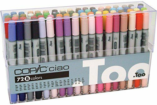 Copic ciao markers Set B I72B, 72 piezas