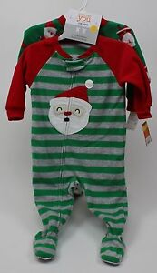 Details about Carter s Christmas 2 Pack of Red Green Blanket Sleepers Sleep  N Play Size 12 mos a9f2413d4