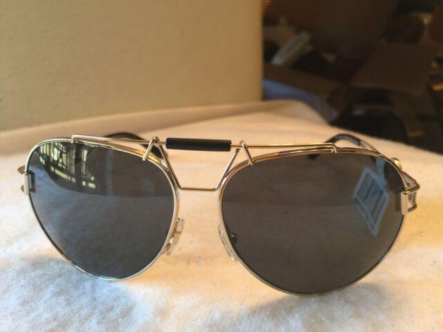 16d7325fff14e VERSACE Sunglasses VE 2160 1252 87 63-14 Gold   Black Aviator Frames NWT