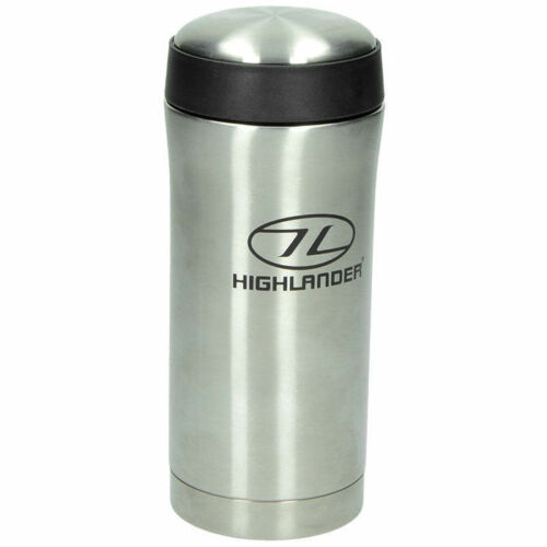 THERMAL MUG Thermos HIGHLANDER 330ml Stahl isoliert Thermal Silber