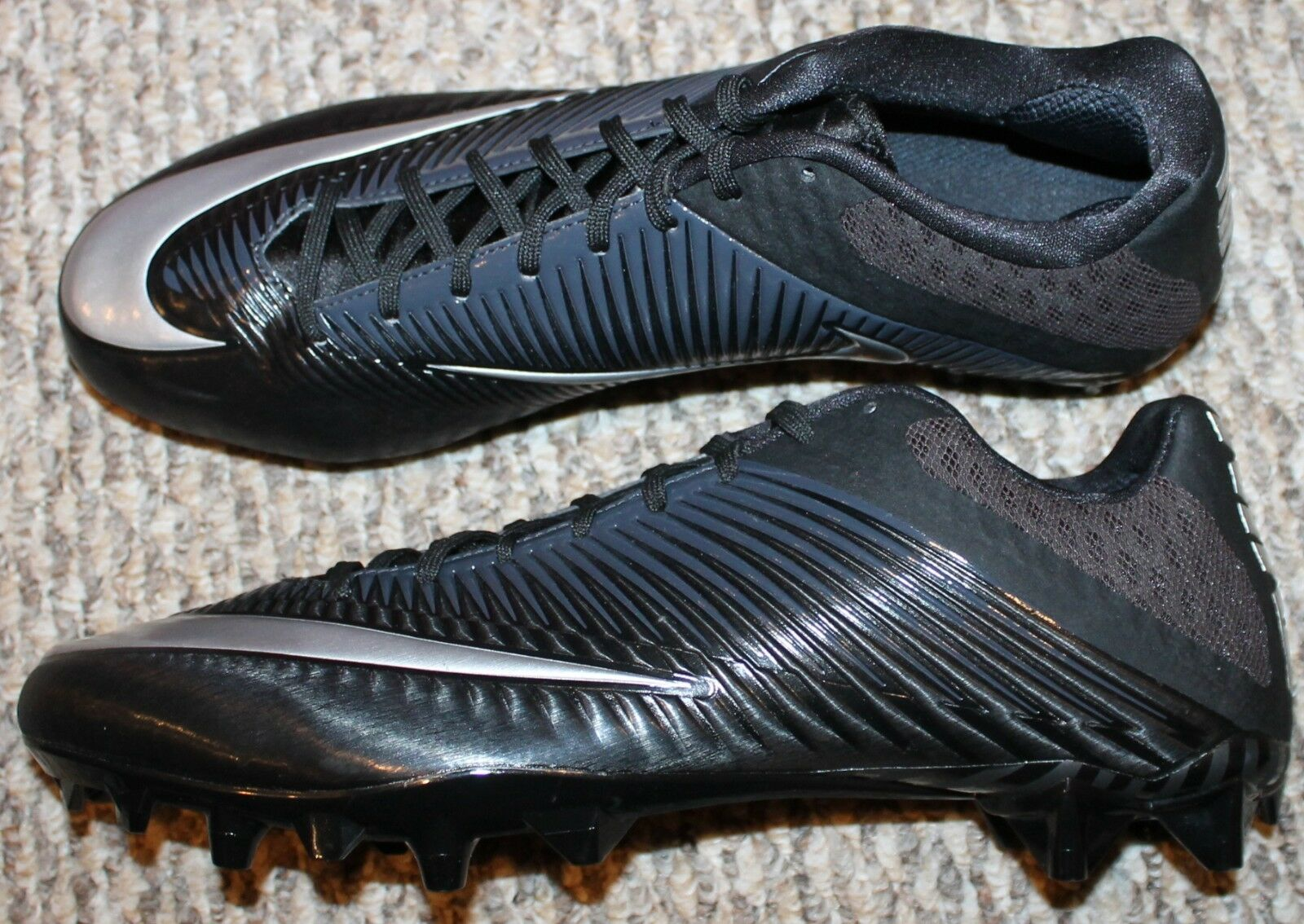 96ebd9261861 Nike Vapor Speed 2 TD Low Football Cleats Men's Size 15 Silver Black ...
