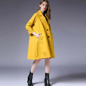 newest 0f164 67ddb Details about Plus size womens loose major suit trench coat fashion Elegant  coats oversize new