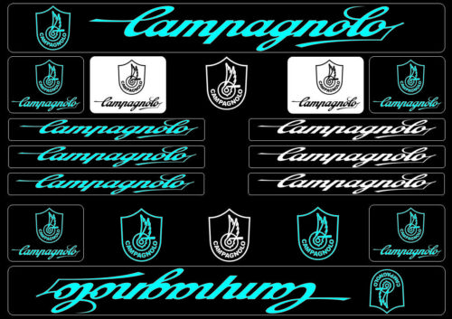 Campagnolo Bike Bicycle Frame Decals Stickers Graphic Adhesive Set Vinyl Blue
