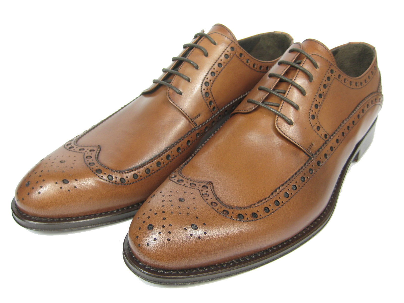 Giorgio shoes Leather shoes S881 Hand Hand Hand Sewed Leather Sole Longwing Whisky Brown 14510e