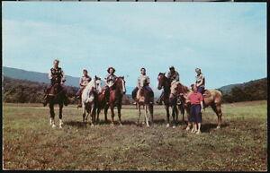 WV West Virginia State Park Horseback Riders Vintage 1953 Horse Riding Postcard