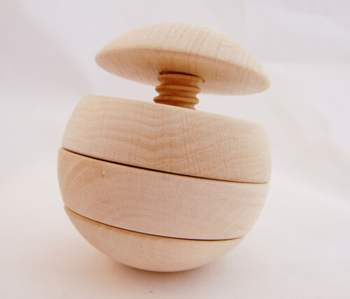 Great natural gift learning toy for kids Wooden puzzle ball Waldorf inspired