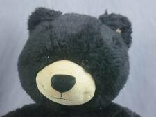 BIG TAN BLACK BUILD A BEAR GRIZZLY TEDDY  BROWN EYES LOVEY PLUSH STUFFED ANIMAL