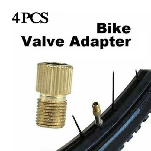 12x Brass Adaptor Presta to Schrader Bicycle Valve Converter Bike Pump Connector