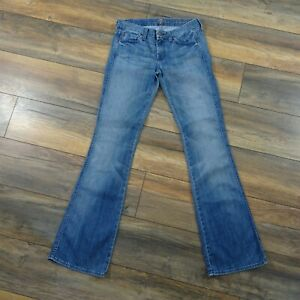 7-For-All-Mankind-Size-27-A-Pocket-Blue-Denim-Bootcut-Jeans-W31-L34-Womens