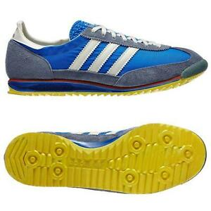 ADIDAS-ORIGINALS-SL-72-Baskets-Retro-Rare-Deadstock-Bleu-Baskets-Chaussures-Kicks