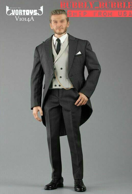 1 6 Gentleman Suit Set Royal Wedding British Tuxedo For heiß Spielzeugs CooModelll  USA
