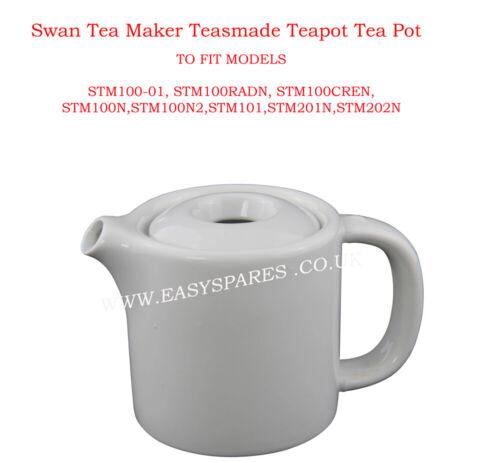STM201N SWAN Bianco in Ceramica Pentola teasmaid Tè e Caffè Brocca si adatta MODELLI STM200N