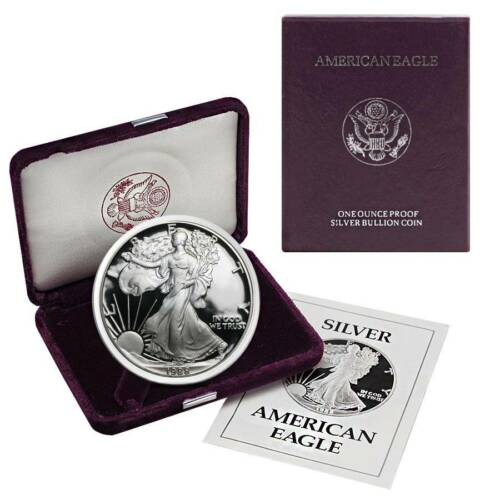 OGP /& Papers 1988-S American Silver Eagle Proof