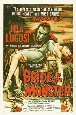 BRIDE OF THE MONSTER REPRODUCTION ART PRINT A4 A3 A2 A1