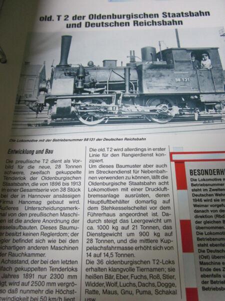 Zielsetzung Dampflok Mit Risszeichnung P165 Old. T2 Oldenburgische Staatsbahn Br 98.1 1896 GroßE Sorten