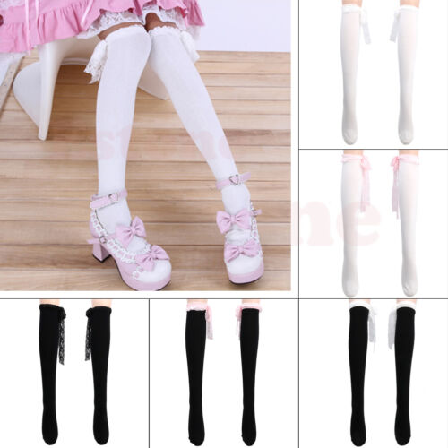 Lace Top Lolita Over Knee Socks Gothic Rock Emo Sweet Thigh-Highs Stockings