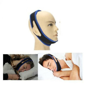 Snore Stop Belt Anti Snoring Cpap Chin Strap Sleep Apnea Jaw Solution TMJ BLUE 715444523595