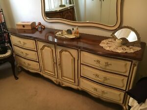 Details about Vintage Drexel Bedroom Furniture Set- Touraine, French  Provincial (1950\'s)