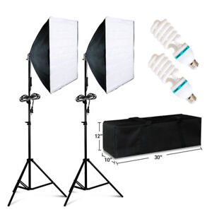 Image is loading 2-PCS-Photography-Lighting-Softbox-Stand-Photo-Equipment-  sc 1 st  eBay & 2 PCS Photography Lighting Softbox Stand Photo Equipment Soft Studio ...