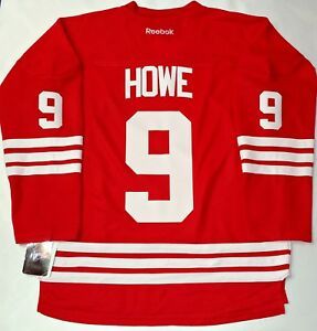 ebc276478 NWT GORDIE HOWE DETROIT RED WINGS 1958-62 CAPTAIN HOCKEY JERSEY L XL ...