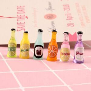 Detalles de 6pcs 1/12 dollhouse miniature accessories mini wine bottle  simulation' model Toy