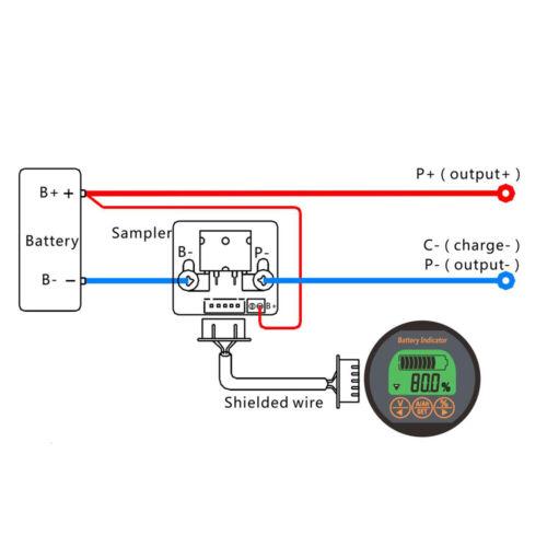 Battery Tester DC 80V 350A SOC AH VOLT AMP Capacity Monitor Voltage Amp Meter