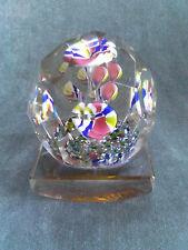 RARO Antico Boemia Cristallo Fiore Sfaccettato Vetro blotter FERMACARTE c.1900