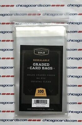 100 1 Pack Ultra CBG RESEALABLE GRADED CARD BAGS fits PSA BGS SGC BCCG