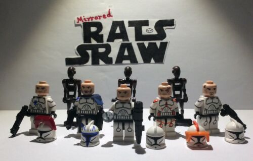 Lego Star Wars Minifigures-Clone Custom Troopers-Rishi Moon Spécial