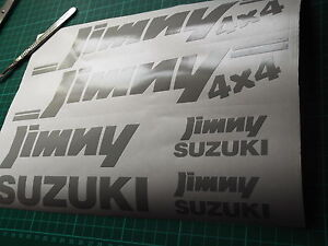 Suzuki JIMNEY 4x4  graphics stickers set