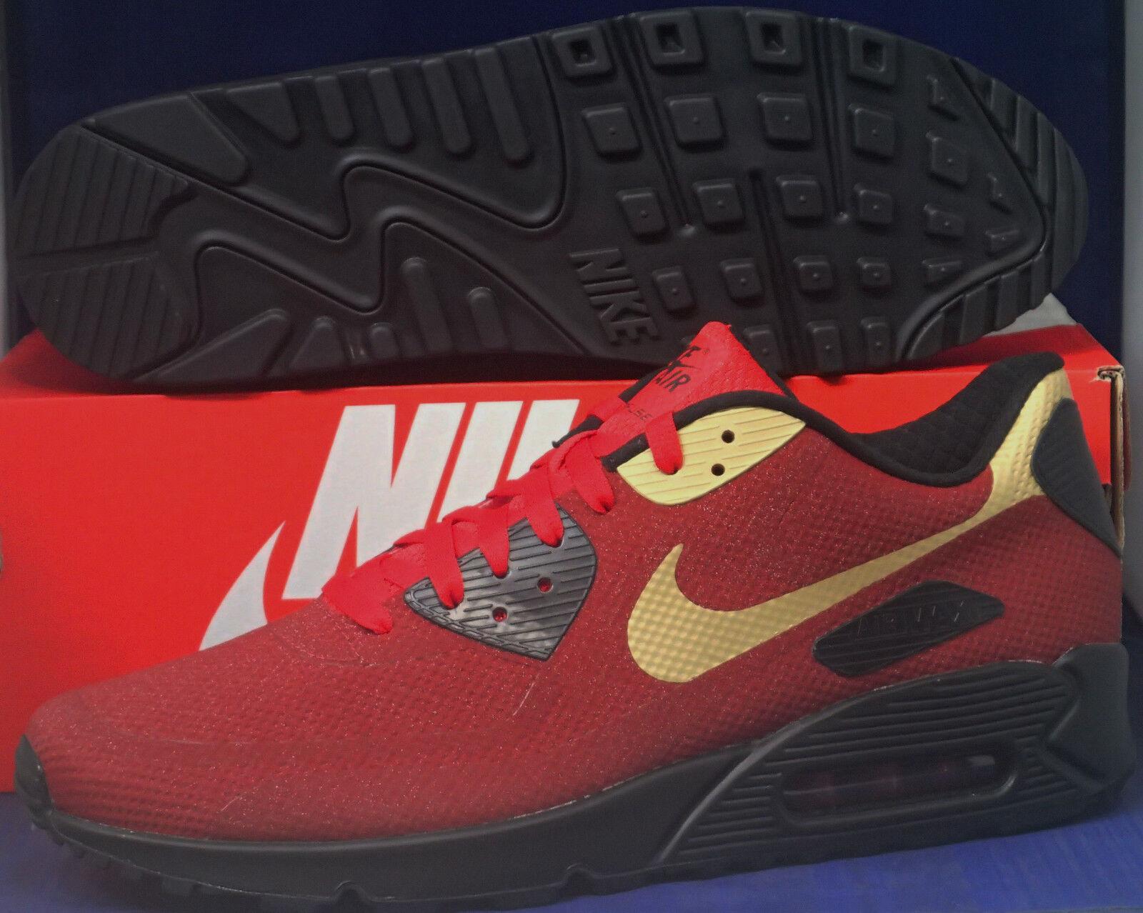 Nike Air Max 90 Hyperfuse Premium Gala Glimmer iD Team Red SZ 12.5 (822560-997)