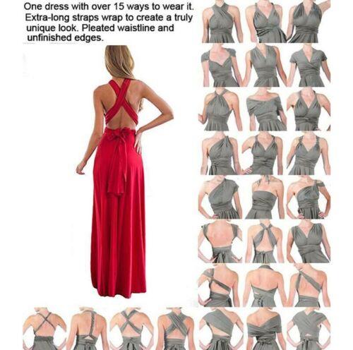 Formal Women evening dress maxi dresses ball gown convertible multi way wrap
