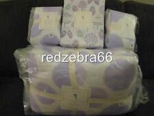 Pottery Barn Kids Watercolor Dot Spot Full Quilt Shams Owl Sheet Set Lavender 7P