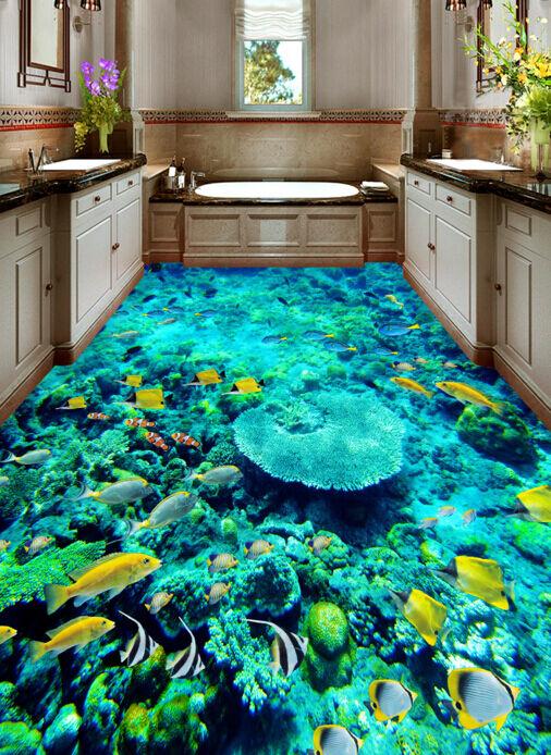 3D Sea Marine Organisms  Floor WallPaper Murals Wall Print Decal 5D AJ WALLPAPER