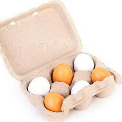 Preschool Educational Kid Pretend Play Toy Wooden Eggs Yolk Kitchen Food ODLH