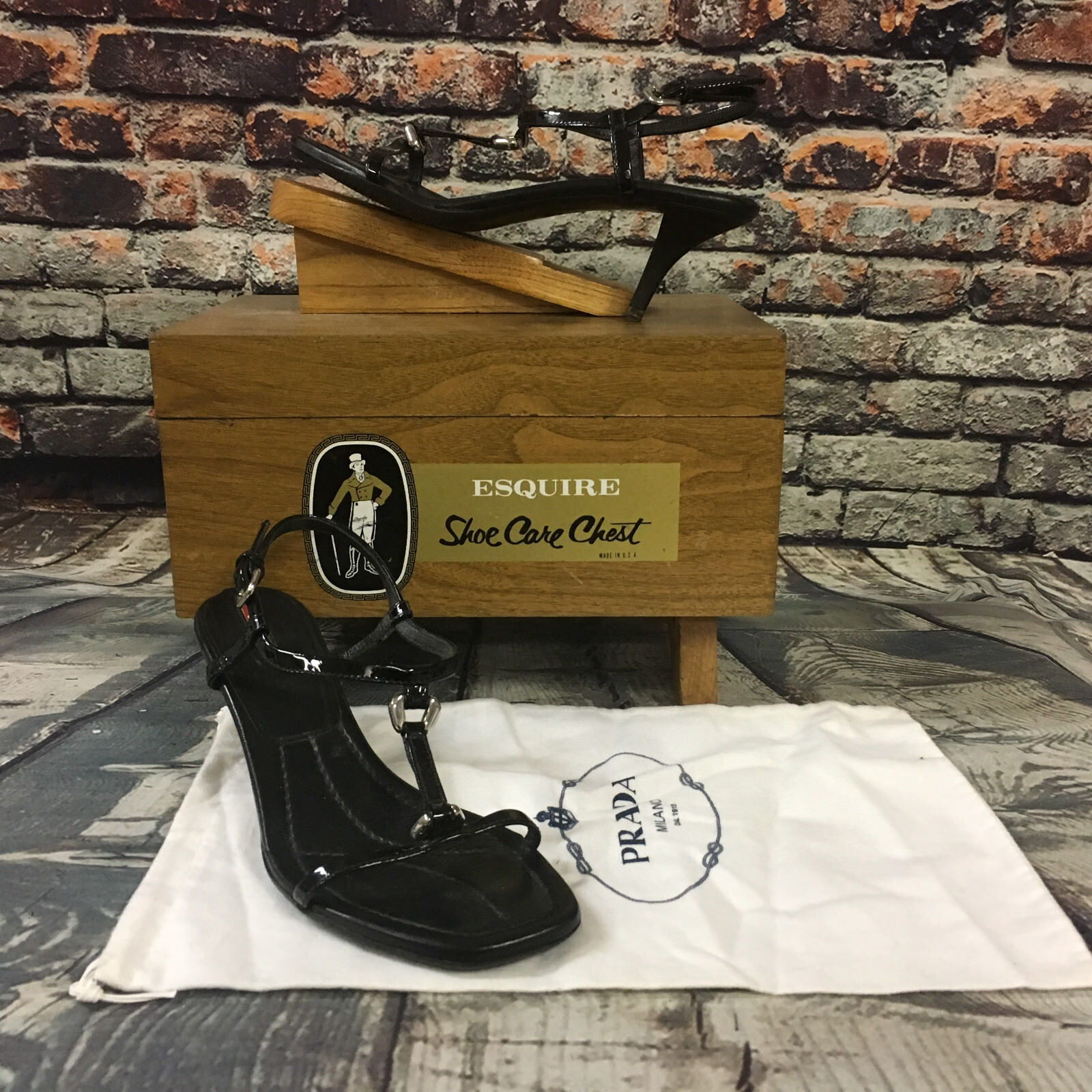 Prada High Heel Open Toe Sandal Shoes Sz 38 US 7.5 - Show Off Those Sexy Feet