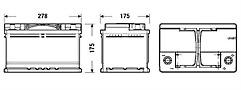 Exide EL652 Start-Stop Battery