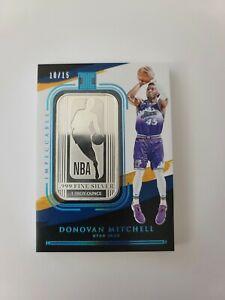 2020-21 Panini FOTL Impeccable Basketball NBA Donovan Mitchell 1oz Silver #10/15