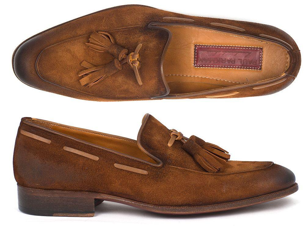 Paul Parkman uomo MOCASSINO NAPPA MarroneeE ANTICO Suede scarpe (ID TAB32FG)