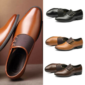 Men-Formal-Dress-PU-Wedding-Casual-Leather-Shoes-Business-Pointy-Fashion