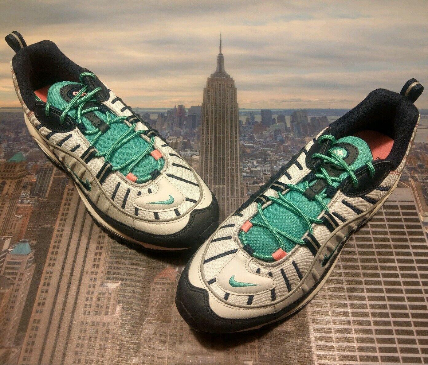 Nike Air Max 98 South Beach Tidal Wave Pure Platinum Mens Size 14 640744 005 New