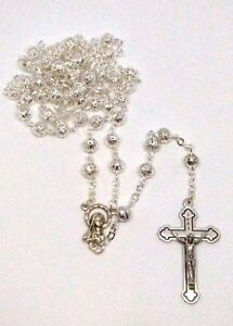 Metal Filigree Rosary with Our Lady Medal Junction
