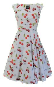 Hearts-amp-Roses-Off-White-Retro-Swing-Cherry-Print-Jive-Dress